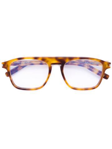 Saint Laurent - Square Glasses - Unisex - Acetate - One Size, Yellow/orange, Acetate
