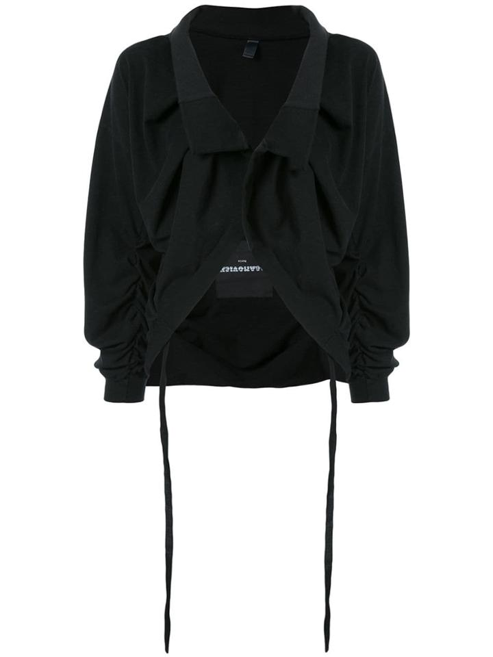 Aganovich Cropped Jacket - Black