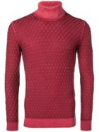 Gabriele Pasini Cable Knit Sweater - Red
