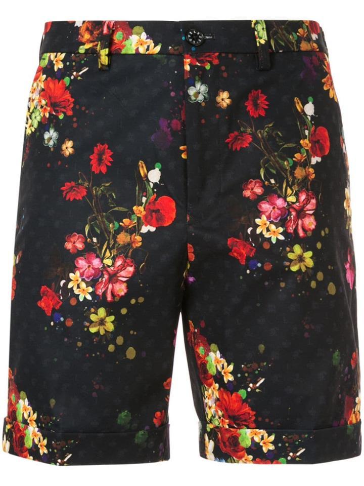 Loveless Floral Print Shorts - Black