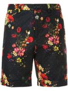 Loveless Floral Print Shorts - Black
