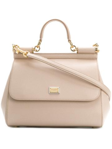 Dolce & Gabbana - Sicily Shoulder Bag - Women - Calf Leather - One Size, Nude/neutrals, Calf Leather