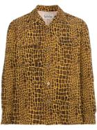 Wacko Maria Giraffe Print Cotton Shirt - Yellow