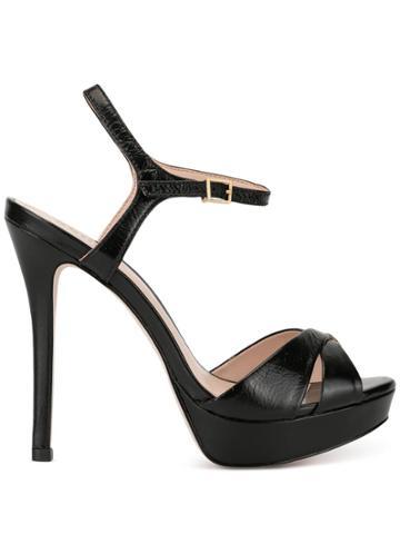 Schutz Strappy Platform Sandals - Black