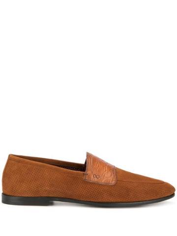 Dolce & Gabbana Almond Toe Slippers - Brown