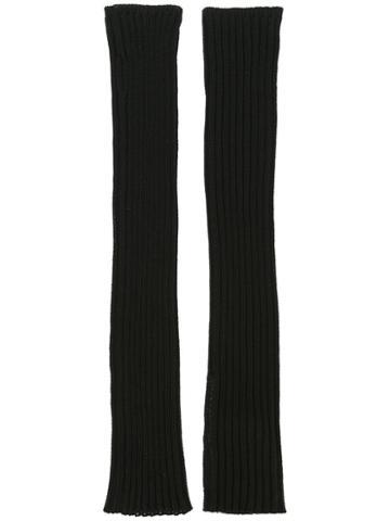 Rick Owens Knit Arm Warmers, Women's, Black, Cotton