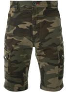 Loveless Camouflage Print Shorts, Men's, Size: 1, Green, Cotton/polyurethane