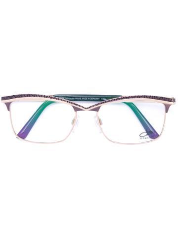 Cazal - Rectangle Frame Glasses - Women - Acetate/titanium - 53, Green, Acetate/titanium