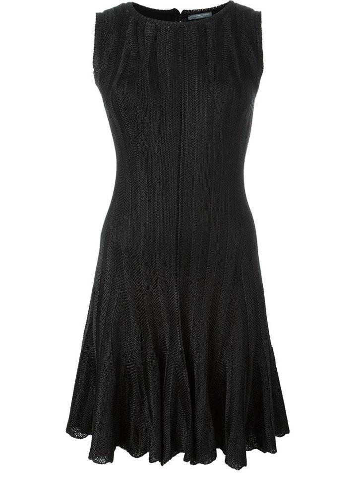 Alexander Mcqueen - Knit Dress - Women - Polyester/viscose/metallic Fibre - Xs, Black, Polyester/viscose/metallic Fibre