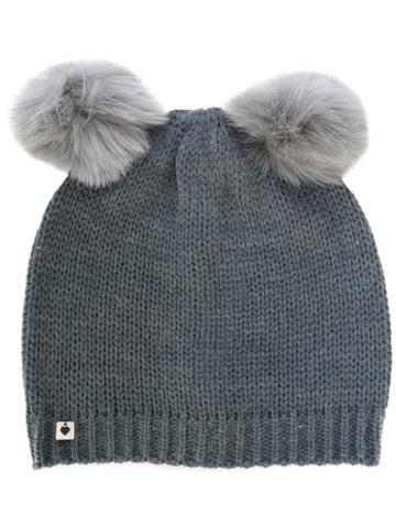 Twin-set - Faux Fur Pom Pom Beanie - Women - Acrylic/wool/polyester - One Size, Grey, Acrylic/wool/polyester