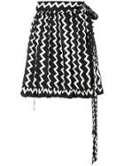 Stella Mccartney Zig-zag Print Mini Skirt - Black