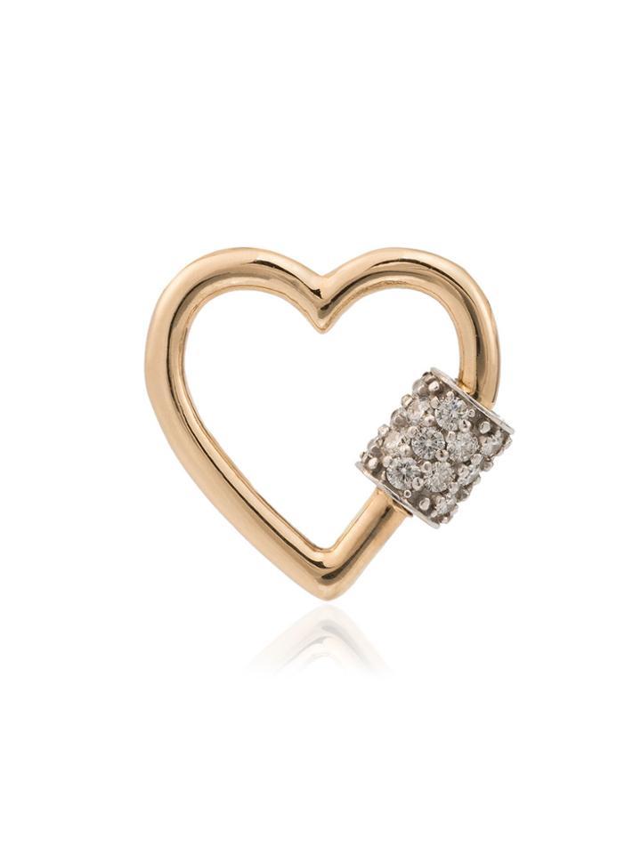 Marla Aaron 14k Rose Gold And Diamond Baby Heartlock - Metallic