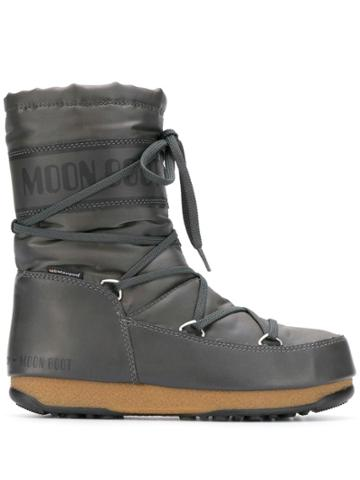 Moon Boot Lace-up Snow Boots - Grey
