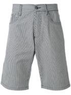 Maison Kitsuné - Striped Shorts - Men - Cotton - 33, White, Cotton