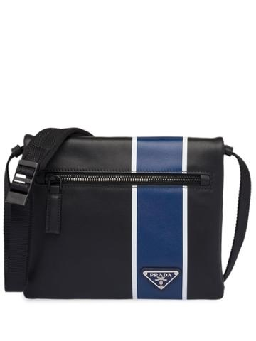 Prada Leather Bandoleer Bag - Black