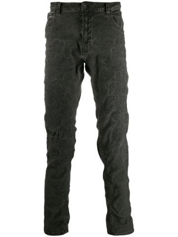 Poème Bohémien Distressed Slim-fit Jeans - Grey