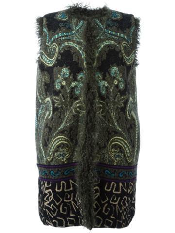 Etro Embroidered Sleeveless Coat