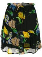 Ganni Floral Skirt - Black