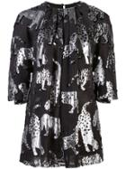 Carolina Herrera Animal Blouse - Black
