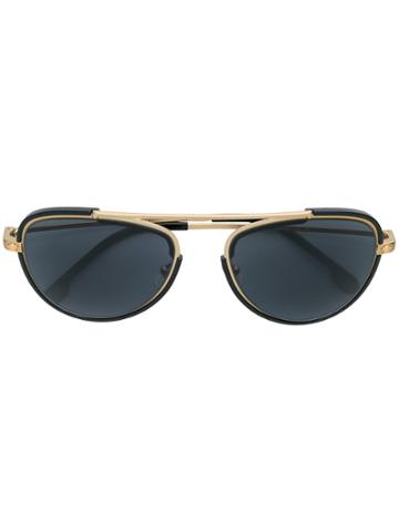 Versace Eyewear Aviator Style Sunglasses - Black