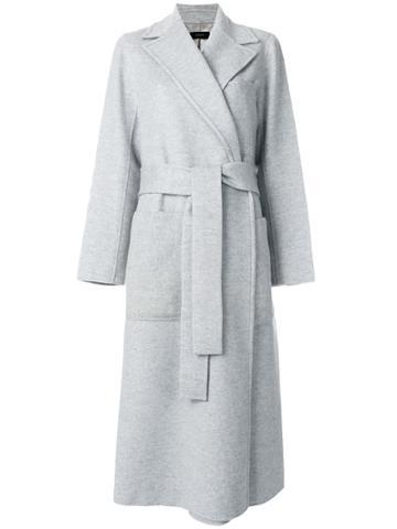 Joseph Belted Robe Coat - Grey