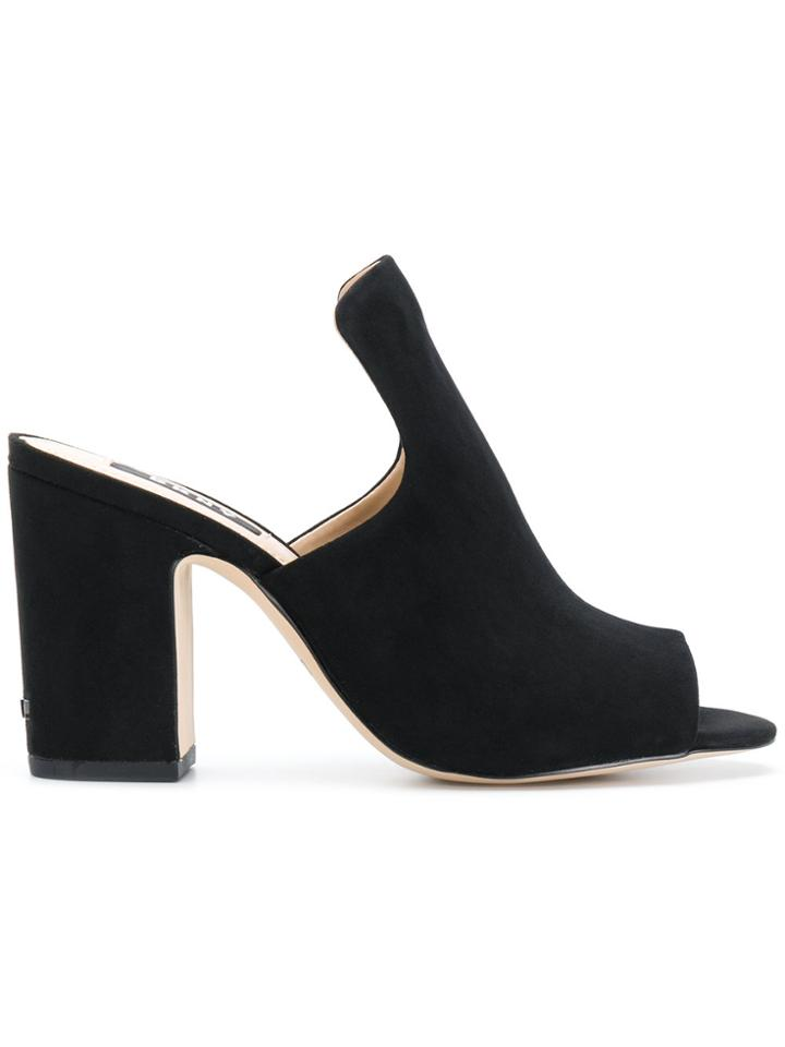 Dkny Open-toe Heeled Mules - Black