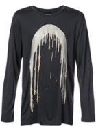 Rochambeau Drip Print Longsleeved T-shirt - Grey