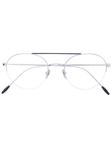 Giorgio Armani - Round Frame Glasses - Unisex - Metal (other) - 51, Grey, Metal (other)