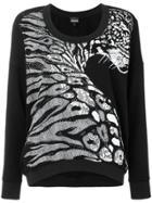 Just Cavalli Zebra Print Jumper - Black