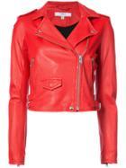 Iro Cropped Biker Jacket - Red