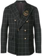Dolce & Gabbana Appliqué Detail Double Breasted Blazer - Brown