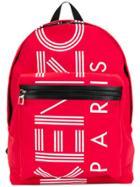 Kenzo Logo Backpack - Red