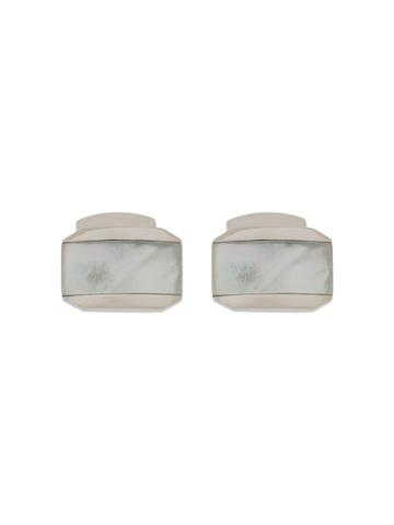 Tateossian Rectangle Cufflinks - White