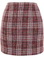 Jovonna Gilot Tweed Skirt - Red