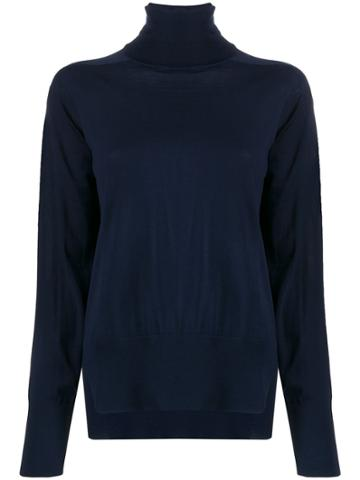 Boon The Shop Roll Neck Boxy Sweater - Blue