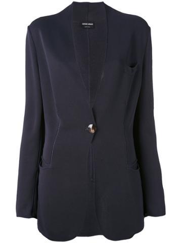 Giorgio Armani Vintage Scalloped Blazer - Blue