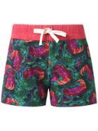 Isolda Printed Shorts - Green