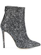 Marc Ellis Glitter Ankle Boots - Black