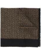 Prada Chevron Knitted Scarf - Brown
