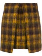 Aalto Checked A-line Mini Skirt - Yellow & Orange
