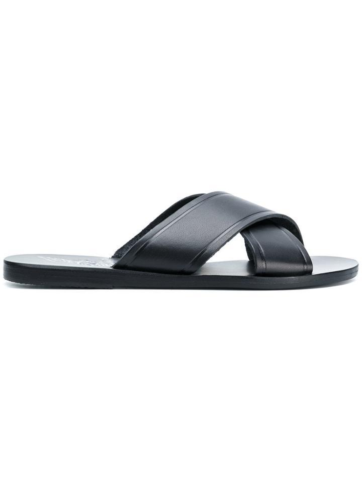 Ancient Greek Sandals Thais Flat Sandals - Black