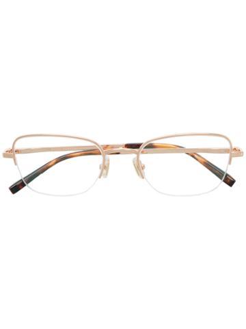 Boucheron Rectangle Frame Glasses - Metallic