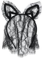 Maison Michel Lace Ears Hair Band - Black