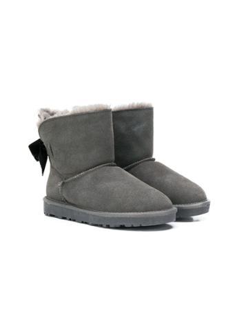 Monnalisa Shearling-lined Boots - Grey