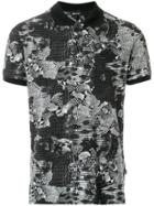 Just Cavalli Printed Style Polo Shirt - Black