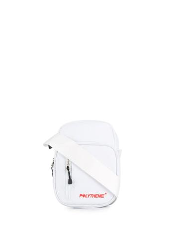 Polythene* Optics Logo Messenger Bag - White