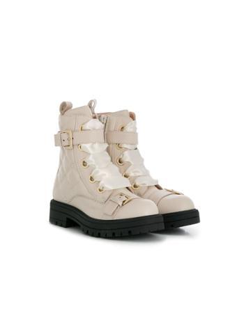 Elisabetta Franchi La Mia Bambina Teen Buckle Detail Ankle Boots -