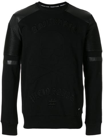 Philipp Plein - Embroidered Sweatshirt - Men - Cotton/polyester/polyurethane - Xl, Black, Cotton/polyester/polyurethane