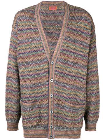 Missoni Vintage Patterned Stripe Knit Cardigan - Multicolour