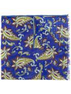 Altea Paisley Floral Scarf - Blue